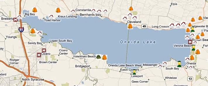 Oneida Lake Lodging Camping Hotels